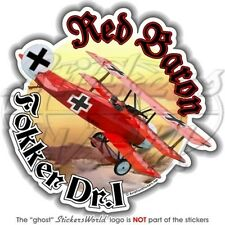 FOKKER Dr.I German Ace Richthofen RED BARON WW1 Vinyl Sticker Decal