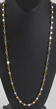 COSTUME NAPIER TWO TONE HEAVY BOX LINKS CHAIN NECKLACE COSTUME SIGNED 9803