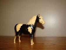 Vintage Breyer SHETLAND Pony Glossy Black PINTO # 21 White Mane & Tail Tip