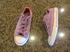Converse purple All Star Lace up Sneakers 3 eur 35 girl's junior multi tongue
