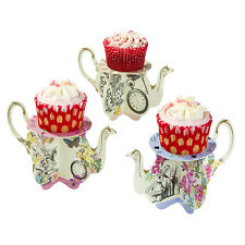 ALICE IN WONDERLAND TRULY ALICE 6 TEAPOT CAKE STANDS, WEDDING/BIRTHDAY/TEA PARTY