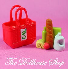 New Dairy Bread Groceries Bag Kitchen Food Fisher Price Loving Family Dollhouse