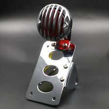 Bobber Vintage Retro SIDE Axle LICENSE PLATE Grille TAIL LIGHT For HARLEY Custom