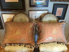 A PAIR OF FORTUNY PILLOWS GLICINE PATTERN 20 X 24 ( DOWN PILLOW INSERT