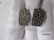 Sterling Silver Silpada Israel Curved Ornate Earring Pair Gorgeous Perfect Pair