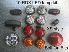 RDX LED XS Style 10 Lamps Side Repeater NumLmp. Defender 1998 to 2016 Td5/Tdci D