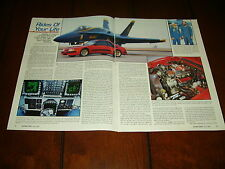 BLUE ANGLES F/A 18 HORNET NAVY USMC  - JBA MUSTANG ***ORIGINAL 1991 ARTICLE***