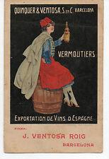Tarjeta postal publicitaria QUINQUER & VENTOSA S. en C BARCELONA Años 20 NUEVA