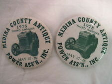 2 OLD VINTAGE 1978 POWER ASS'N TRACTOR PINS PINBACKS COLLECTIBLE