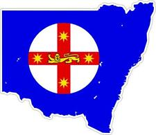 Sticker car moto map flag vinyl outside wall decal new south wales australia