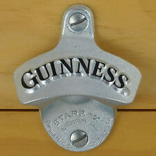 Guinness Starr X Wall Mount Stationary Bottle Opener, Embossed NEW in gift box!!