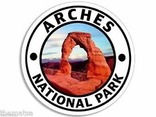 "ARCHES NATIONAL PARK TOOLBOX CAR HELMET STICKER DECAL 4"" MADE IN USA"