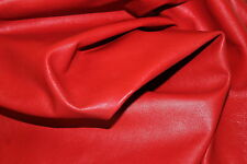 RED COLOR REAL LAMBSKIN LEATHER SWATCHES 2 INCHES LENGTH X 2 INCHES BREATH 1