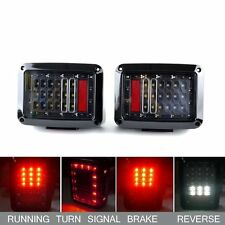 LED Tail Lights For Jeep Wrangler JK Brake Reverse Turn Singal Back Up Rear Lamp