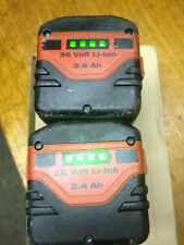 2 batteries hilti 36 volts  en 2,6Ah + 2,4Ah