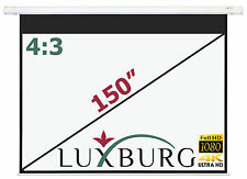 "Luxburg 150"" 300x225cm Full HD 3D Electric Motorised Projector Projection Screen"