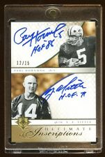 08 ULTIMATE DUAL AUTO INSCRIPTIONS #D /15 HOF Y.A. TITTLE / PAUL HORNUNG BEAUTY