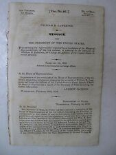 William Beach Lawrence 1830 Diplomat Great Britain Andrew Jackson Gallatin Orig