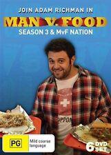 Man v. Food - Season 3 & MvF Nation - Man vs Food (DVD Region 0) Brand new