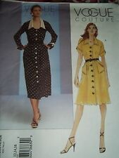 Vogue COUTURE Pattern 2743  PETITE DRESS Sizes: 12,14,16 NEW!