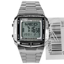 * NUOVO * Unisex Casio Retrò Digitale banca di dati WATCH db360 Argento 1A RRP £ 50
