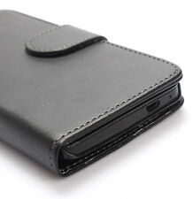 Black PU Leather Wallet Flip Card Case Cover Stand for HTC One M7 801s