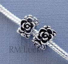 2 pcs Silver tone Charms Beads Spacer flower Fits European style Bracelet  C68