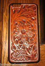WESTERN TOOLED CELL PHONE CASE IPHONE 6 TAN FLORAL COWBOY COWGIRL ACCESSORY
