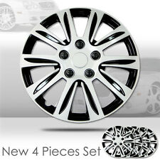New 15 inch Hubcaps Silver Rim Wheel Covers Hub Cap Full Lug Skin Set 547
