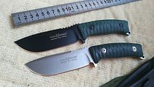Straight knife D2 fixed blade micarta handle fox FX-131 survival camping tool