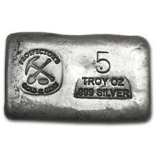 5 oz Silver Bar - Prospector's Gold & Gems #27154v2 Lot 1400J
