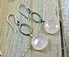 ❤️Silpada Sterling Silver Rose Quartz Dangle Earrings W1872 NWOT