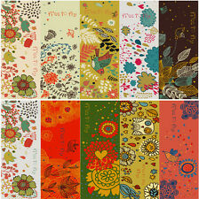 30pcs Colorful Flowers & Birds Paper Bookmarks For Gift Present Souven
