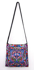 Thai Hmong Embroidered Cross Body bag with long strap Many Colours Available