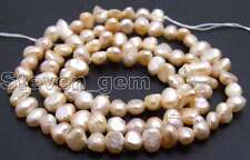 "SALE 5-6mm Natural Pink Freshwater BAROQUE Pearl Loose Beads 14""-los466"