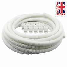 White Flexible Conduit Contractor Pack size 20mm -10 m of Conduit + 10 Glands