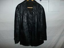 zg7 WWII German Leather Overcoat Size 38 Length 33