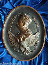Antique  Copper Plaque of The King  Jan  III Sobieski John III  Sobieski
