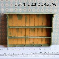 Dollhouse miniature Furniture 1:12 Farmhouse Kitchen Wall Shelf with hooks NEW