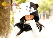 Dangan Ronpa Danganronpa Monokuma bear Kuma Ear Plush Hat Scarf Gloves Sa