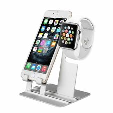 Aluminum Charging Dock Station Fr iWatch iPhone Apple Watch Charger Holder Stand