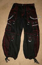 TRIPP NYC Daang Goodman Baggy Conversion Pants Chains Goth Skater Black 34 x 30