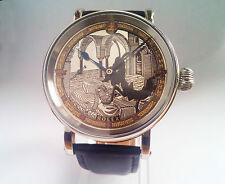 Vintage Rolex Watch Unique Designer Dial Hand Engraved Movement Marriage