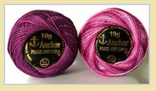 2 x Solid Vareigated ANCHOR Pearl Cotton Crochet Balls Embriodery thread (85m)