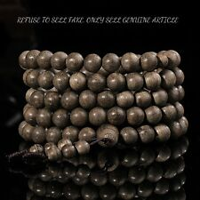 kalimantan 6 mm Japa Mala Meditation Wild Agarwood Aloewood Prayer beads #3097