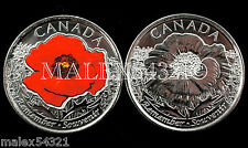 "2015 REMEMBRANCE DAY ""POPPY"" SET UNCIRCULATED (2 COINS)"