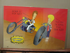 ORIGINAL Vintage Beavis & bud-head Do America born to kick ass Poster 1866