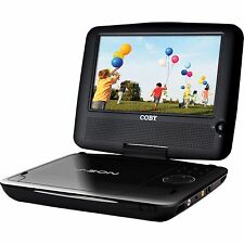 "Coby TFDVD8509 Black V-Zon Widescreen 8.5"" Portable DVD Player Remote Headphones"