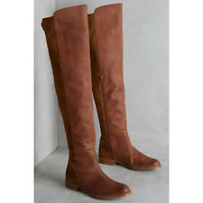 New Anthropologie 67 Collection Elsa Tall Boots Collection Brown Size 8 $278