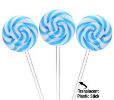 6 Swipple Pops Blue Raspberry Swirly Old Fashioned Candy Lollipops Nostalgic